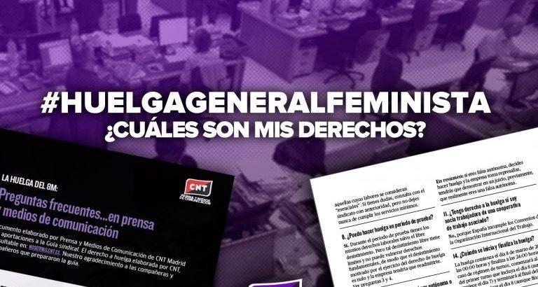 #HuelgaGeneralFeminista: ¿Cuáles son mis derechos en el sector de prensa y medios de comunicación?