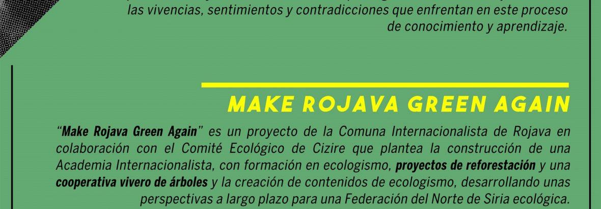 Jornada de apoyo a la campaña Make Rojava Green Again