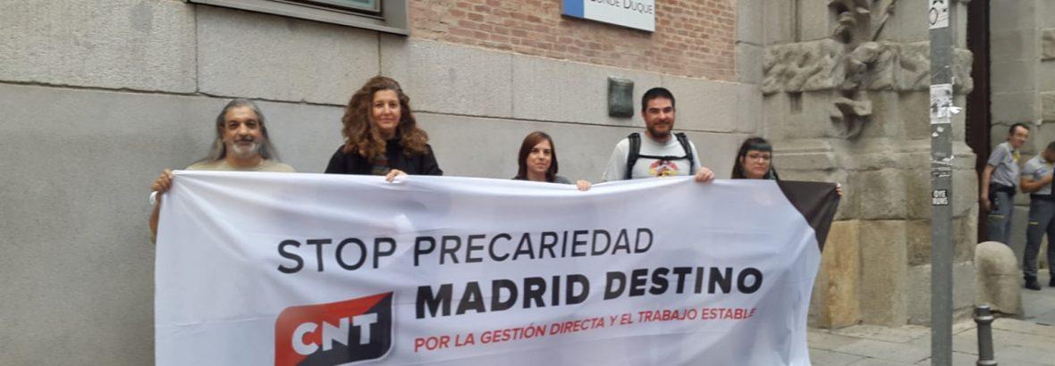 MADRID DESTINO, empresa pública del Ayuntamiento de Madrid, contrata en Fraude de Ley