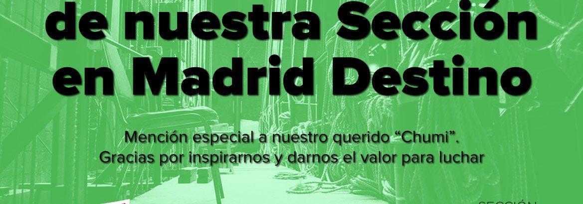 Otra victoria sindical de nuestra Sección Madrid Destino